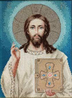 Вышивка крестиком иисус христос