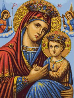 Вышивка крестом Икона Божьей Матери