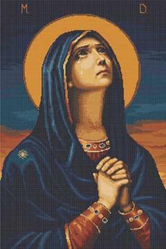 Вышивка крестом Икона Божьей Матери всех скорбящих радость